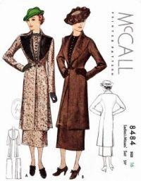 McCalls Outerwear Ensemble 1935