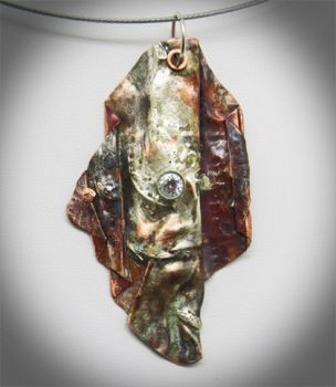 Sterling and Copper pendant