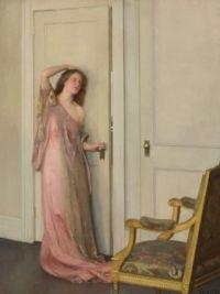 """William McGregor Paxton, """"The Other Door"""", 1917"""