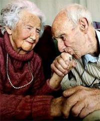 Growing old together - still in love