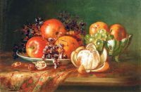 """Tabletop Still Life"" by August Laux, German, 1847-1921"