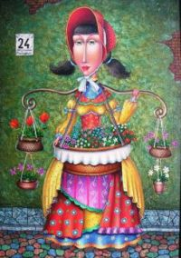 Zurab Martiashvili Art - Flower Girl