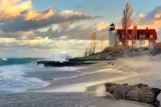 Great Lakes, Michigan Lighthouse