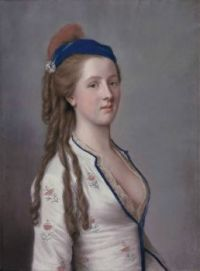 ca. 1754 Lady Ann Somerset, Countess of Northampton, attributed to Jean-Étienne Liotard