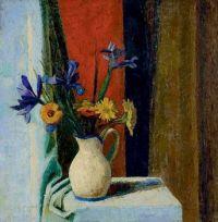 Still Life with Iris and Gerbera, Heinrich Müller (1885-1960)