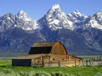 John Moulton's Old Barn On The Grand Teton Range In Wyoming