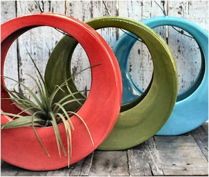 Colorful Circle Pots