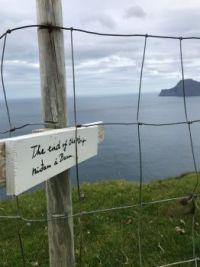 On top of Gjógv, Faroe Islands