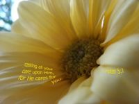 Cast your cares upon Jesus