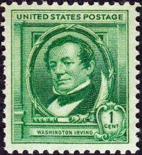 Washington Irving Postage Stamp - 1940