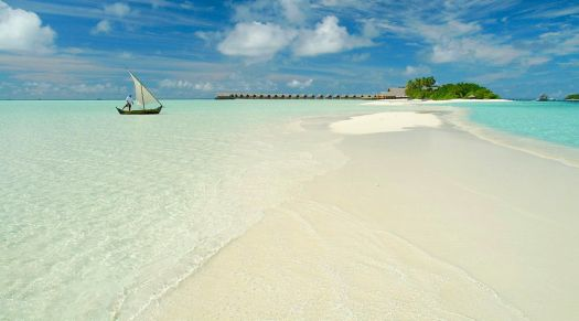 beautiful white sand