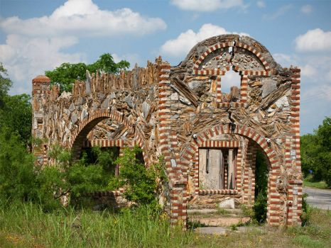 Old Petrified Wood Building - Glen Rose, Texas