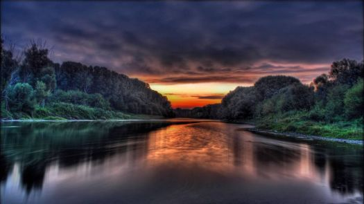 Stunning River at Sunset