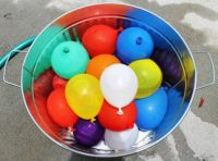 bucket of balloons
