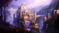 FANTASY CASTLE IN PURPLE