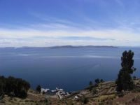 View from Taquile Island, Lake Titicaca