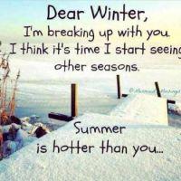 Dear Winter...