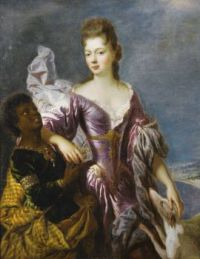 PORTRAIT OF A LADY WITH HER SERVANT