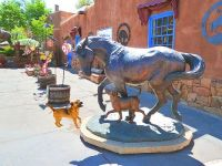 metal statues Santa Fe New Mexico