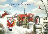 Santa's tractor-smaller version