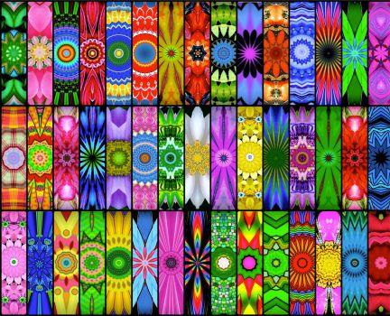 Solve Rainbow KaleidoBoards! (XL) jigsaw puzzle online ...