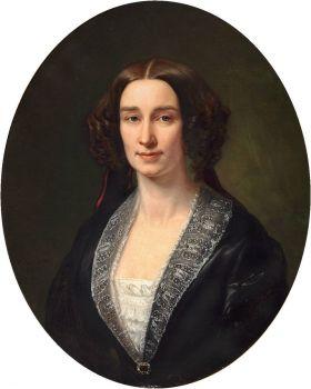 August_Schiøtt_-_Portrait_of_Warinka_Wichfeld_(1855)