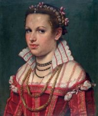 1550-1555 Isotta Brembati Grumelli attributed to Giovanni Battista Moroni