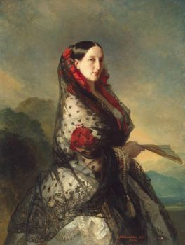 Winterhalten - portrait-of-grand-duchess-maria-nikolayevna - 1857