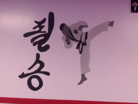 Mural by daughter for her daughter's martial arts class