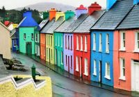 Colorful Street in Cork, Ireland....