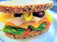 Turkey and cheddar sandwich