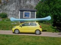 Big canoe, small car...