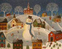 Mary Charles-Village-Snowman