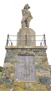 Lord Nelson's Statue overlooking the Menai Strait Angelsey