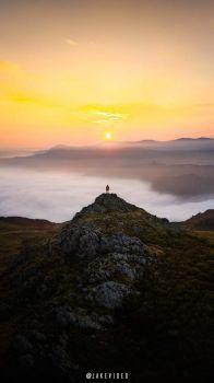 Overlooking Derwentwater from High Spy, Lake District, UK