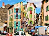 Optical Illusion Building Mural- France- Before and After