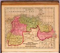 Ecuador, New Granada, Venezuela, and Guiana Map - 1856