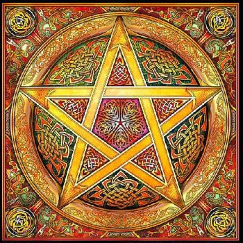 Gold Knotwork Pentacle