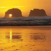 Rockaway Beach, Oregon Coast by Trevor Robertson.  Lost in Oregon