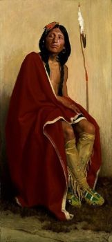 elk-foot of the taos tribe 1909 by  Irving Crouse 1866-1936