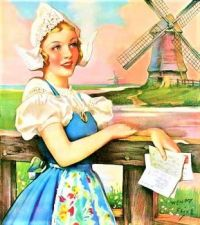 Themes Vintage illustrations/pictures - Dutch Girl