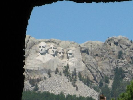 Rushmore thru the tunnel