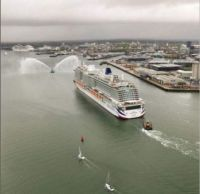 Came into Southampton this morning for her naming ceremony tonight. The New P&O Ship Iona