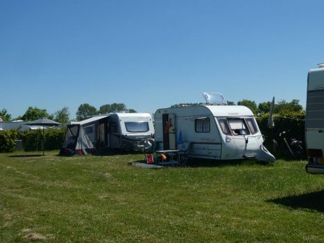 My caravan on a nice camping site in Rockanje; lots of space for each caravan...