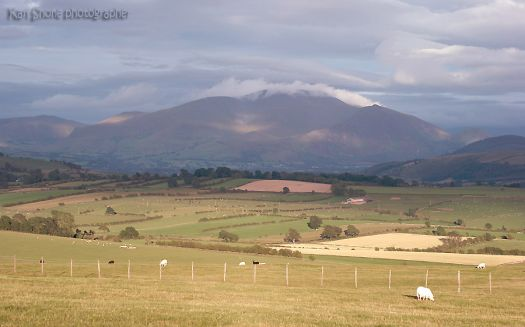 mountains of home, cloud on skiddaw