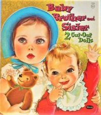 Themes Vintage illustrations/pictures - Baby Brother and Sister paper Dolls