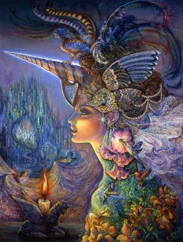 My Lady Unicorn - Josephine Wall, Artist