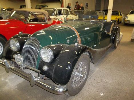 Morgan parked for the winter