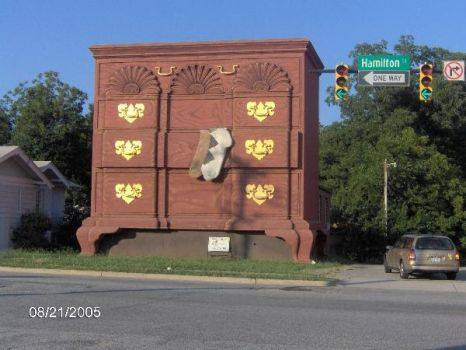 THEME ODD BUILDINGS:- High Point Jaycees Chest of Drawers