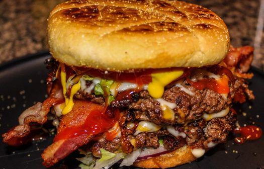 Double Smash Bacon Cheeseburger